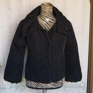 NWOT Elie Tahari black waterproof puffer jacket S